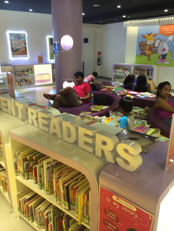 Area is so comfortable that adults use it as well to do their own reading