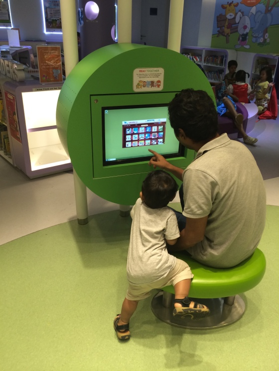 Interactive Media for the kids to play with