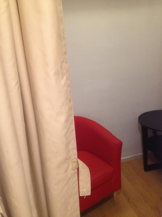 Nursing room with the curtain