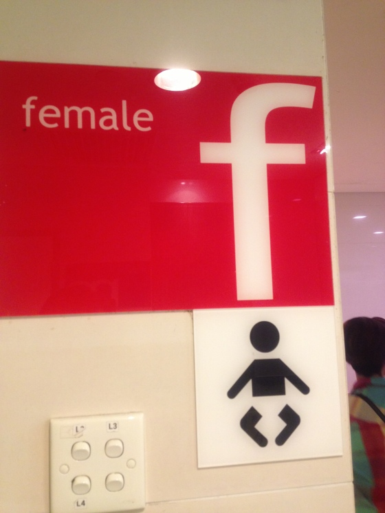 Sign to the Female Toilet