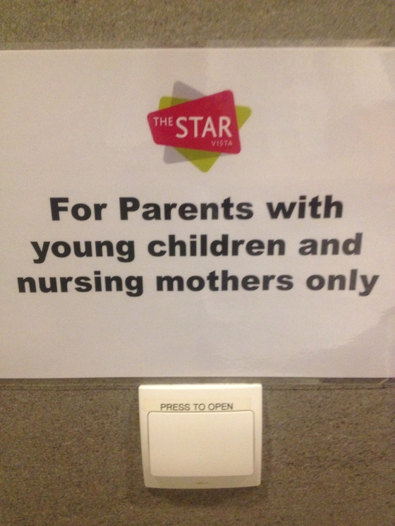 The sign is clear but unread but users who are not nursing